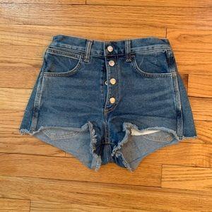 Rag and Bone high waist jean shorts size 24